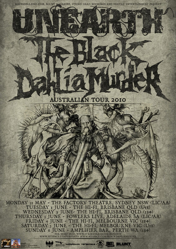 Unearth and The Black Dahlia Murder