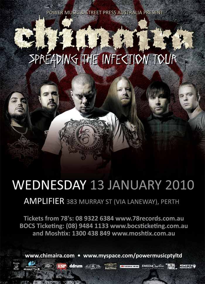 Chimaira Perth supported by Neverborn